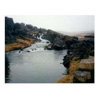 þingvellir UNESCO site, Iceland Postcard