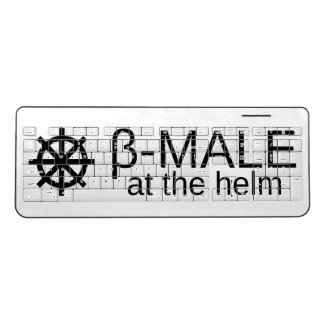 β-MALE at the helm (Black Text) Wireless Keyboard