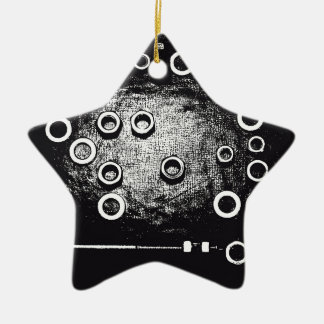 Вolt and nut ceramic star ornament
