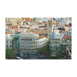 Рanorama of the center of Valencia. Canvas Print