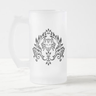 орнамент 1 frosted glass beer mug
