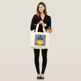 ♥ټ☘Crowned Irish Queen Chicken Fabulous Chic Jumbo Large Tote Bag