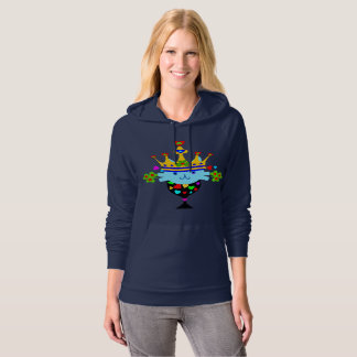 ♥ټ☘Irish Crowned Cat Fabulous Classic Fleece Hoodie