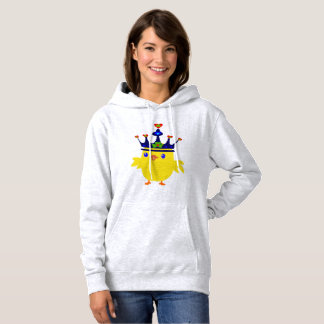♥ټ☘Irish Crowned Chicken Fabulous Classic Toasty Hoodie
