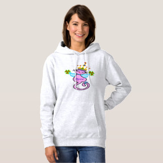 ♥ټ☘Irish Swanky Queen-Cat Fabulous Basic Toasty Hoodie