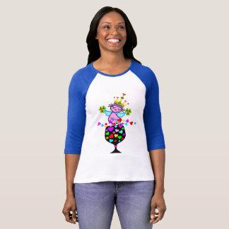 ♥ټ☘Irish Swanky Queen-Cat Fabulous Bella Baseball T-Shirt