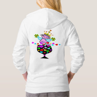 ♥ټ☘Irish Swanky Queen-Cat Fabulous Classic Fleece Hoodie