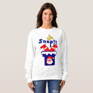 🎅ټOh! Sanp, Clumsy Santa Stuck in a Chimney Funny Sweatshirt