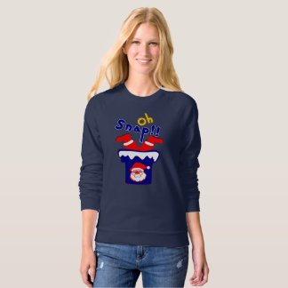 🎅ټOh! Sanp, Clumsy Santa Stuck in a Chimney Sweatshirt