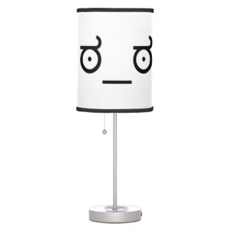 ಠ_ಠ Look of Disapproval ASCCI Text Art Funny Face Table Lamp