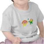 かわいい子供シャツは二人の子供 T シャツ