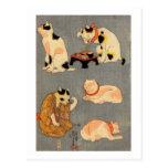 たとえ尽の内(中), 国芳 Japanese Cats(2), Kuniyoshi, Ukiyo-e Post Cards