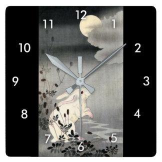 ウサギと月, 小原古邨 Rabbit and Moon, Ohara Koson, Ukiyo-e Clocks
