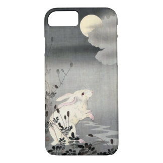ウサギと月, 小原古邨 Rabbit and Moon, Ohara Koson, Ukiyo-e iPhone 8/7 Case