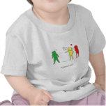 エクモチのかわいい子供服はあしあと T シャツ