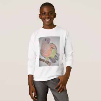 オウム パロットRed-bellied Parrot stretching T-Shirt