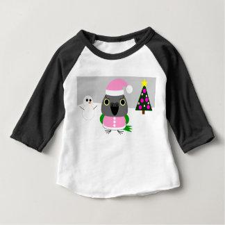 オウム パロットSenegal parrot as Santa for Christmas Baby T-Shirt