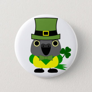 オウムIrish/ St Patrick's Day Senegal Parrot 2 Inch Round Button