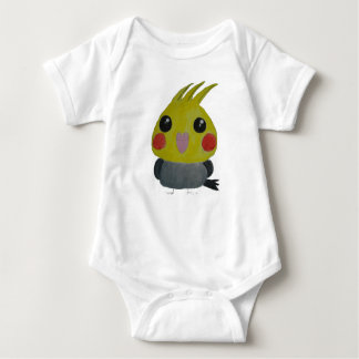 オカメインコ オウム Belle, the cockatiel, Original Design Baby Bodysuit