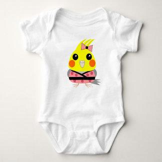 オカメインコ オウム Cockatiel in Kimono Baby Bodysuit
