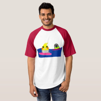 オカメインコ オウム Cockatiel & Senegal parrot Surfing T-shirt
