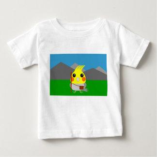 オカメインコ オウムCockatiel parrot ready to hike Baby T-Shirt