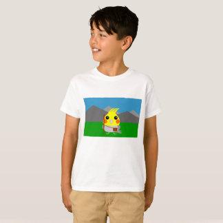 オカメインコ オウムCockatiel parrot ready to hike T-Shirt