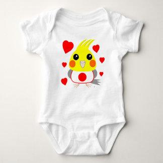 オカメインコ オウムCockatiel with love for Japan Baby Bodysuit