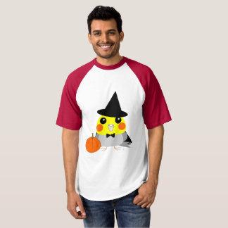 オカメインコCockatiel parrot as witch for Halloween T-shirt