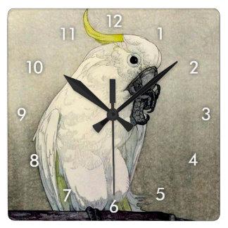 キバタン・オウム, Sulphur-crested cockatoo, Yoshida Clock