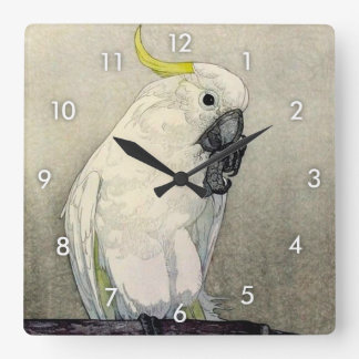 キバタン・オウム, Sulphur-crested cockatoo, Yoshida Square Wall Clock