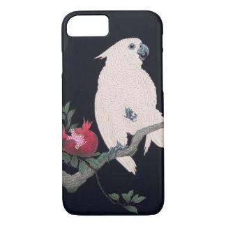 ザクロにオウム, 小原古邨 Cockatoo on Pomegranate, Ohara Koson iPhone 8/7 Case