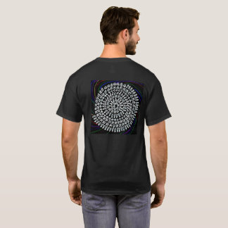 ダークを背景色にした「算数曼荼羅」シャツ T-Shirt