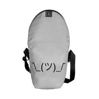 ¯\_(ツ)_/¯ Smugshrug Solid Black Commuter Bag