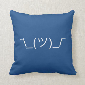 ¯\_(ツ)_/¯ Smugshrug Solid White Throw Pillow