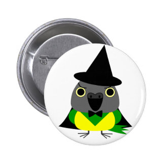 ネズミガシラハネナガインコ オウム Senegal parrot for Halloween 2 Inch Round Button