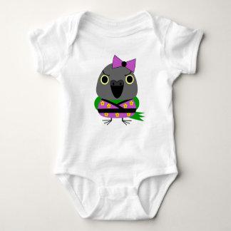 ネズミガシラハネナガインコ  オウム  Senegal Parrot in Kimono Baby Bodysuit