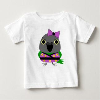 ネズミガシラハネナガインコ  オウム  Senegal Parrot in Kimono Baby T-Shirt
