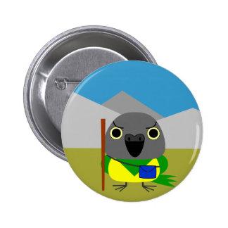 ネズミガシラハネナガインコ  オウム Senegal parrot ready to hike 2 Inch Round Button