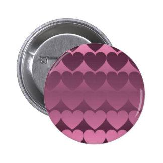ハートグラデーション(ピンク) 缶バッジ