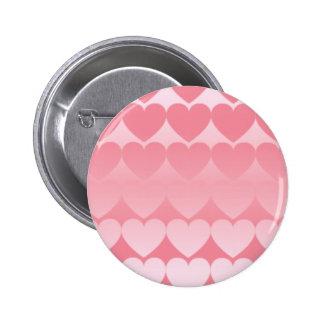 ハートグラデーション(白×ピンク) 缶バッジ