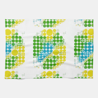 ブラジルカラー 水玉 Brazil color polka dot Towels