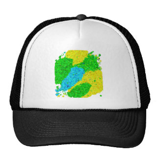 ブラジルカラー 泡模様タイプ Brazil color foam pattern Trucker Hat