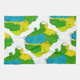 ブラジルカラー 筆描き模様 Brazil color brush type Towel