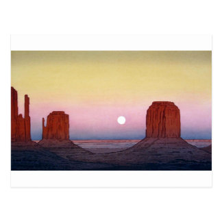 モニュメント・バレー, Monument Valley, Yoshida, Woodcut Postcard