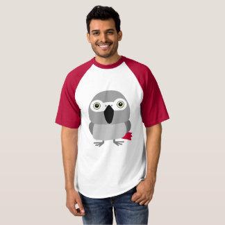 ヨウム オウム パロットAfrican Grey parrot, Paulie T-shirt