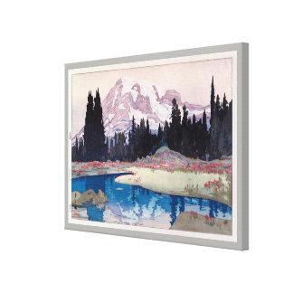 レーニア山, Mount Rainier, Hiroshi Yoshida, Woodcut Canvas Print