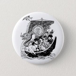 七福神 Seven Lucky Gods 2 Inch Round Button