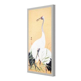 丹頂鶴, 小原古邨 Red-crowned Crane, Ohara Koson, Ukiyo-e Canvas Print