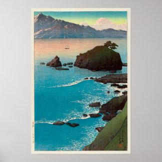 久手の浜, Kude Beach in Wakasa, Hasui Kawase, Woodcut Poster